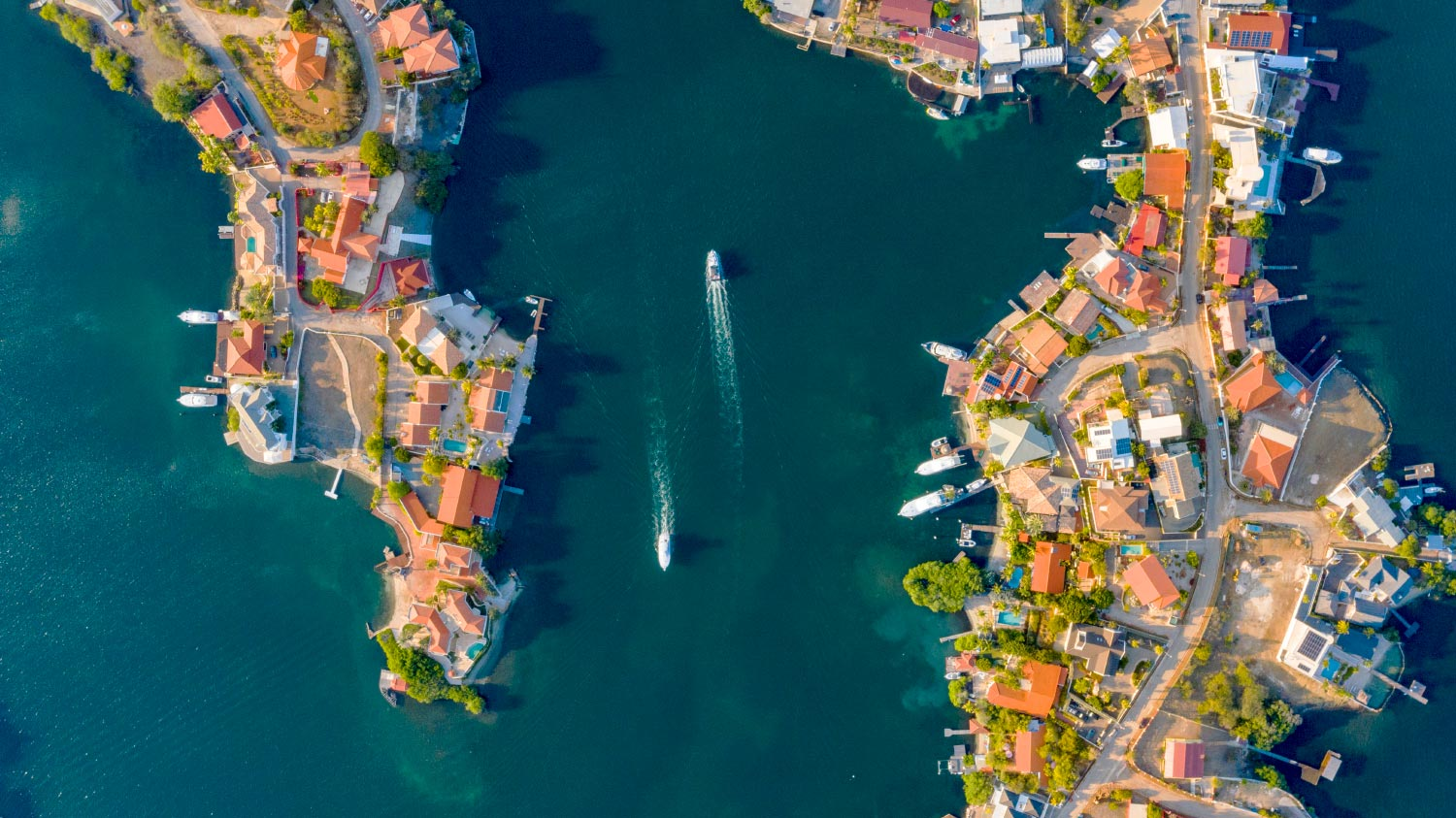 Aerial Spanish water Curacao